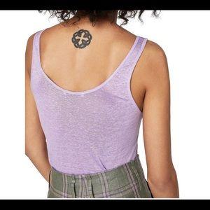 Lavender linen tank